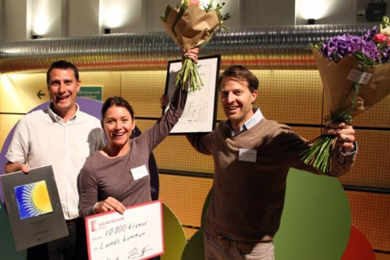 Skånska pristagare i Skåne Solar Award och Skånes vindkraftspris.