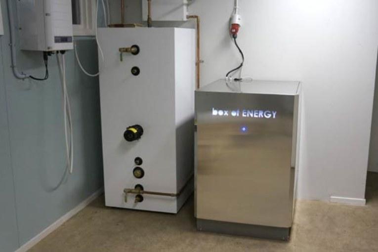 Energibox. Box of Energy installerad hos Västra Orust Energitjänst