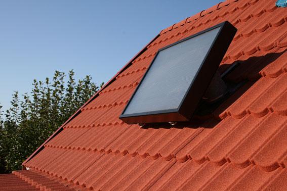 Luftsolfångaren ger både ventilation och värme.