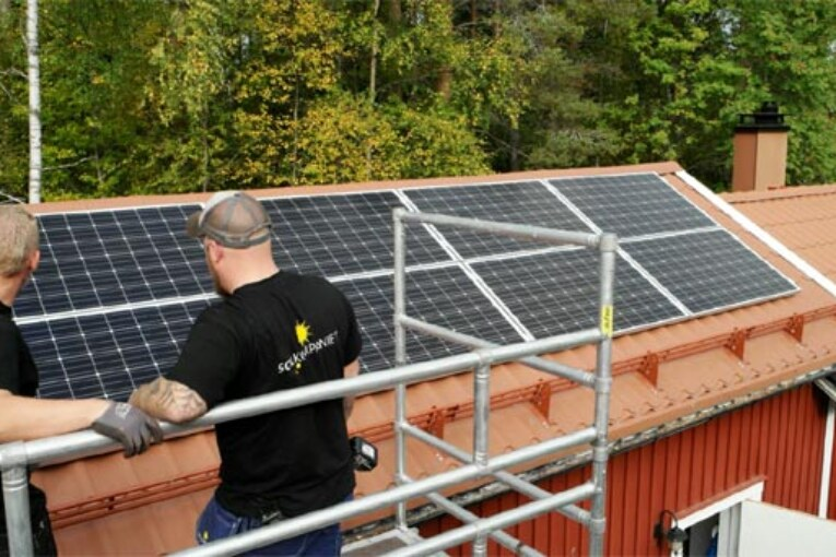 Stort intresse för att hyra solceller.