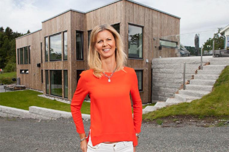 Tone Bekkestad har byggt ett klimatsmart hus utanför Oslo.
