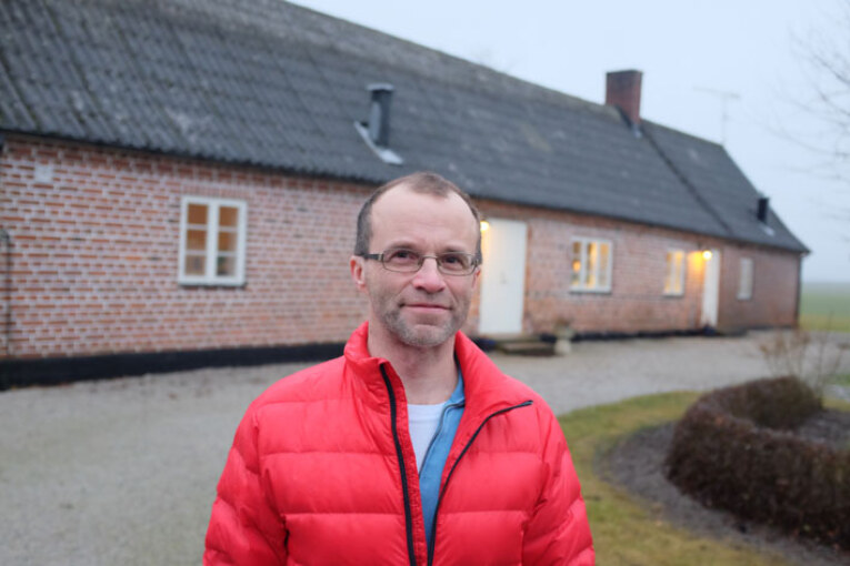 Bengt Ivarsson vid sin skånelänga.