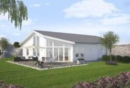 Självförsörjande villa i norrländskt klimat
