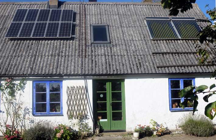 Hållbart. Solcellspaneler och solfångare