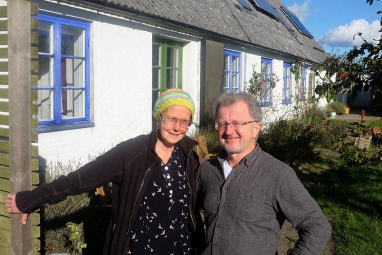 Hållbart. Susanne och Holger Wendt bor i ett off grid-hus