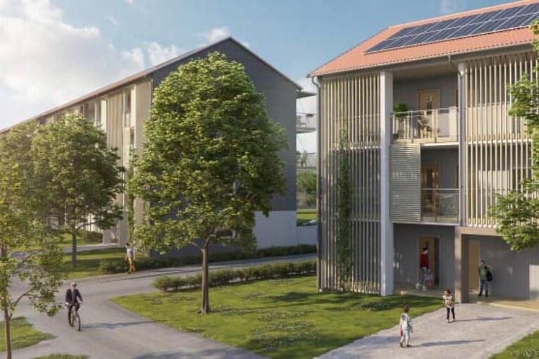BoKlok. Bygger nya lägenheter som förses med solel.