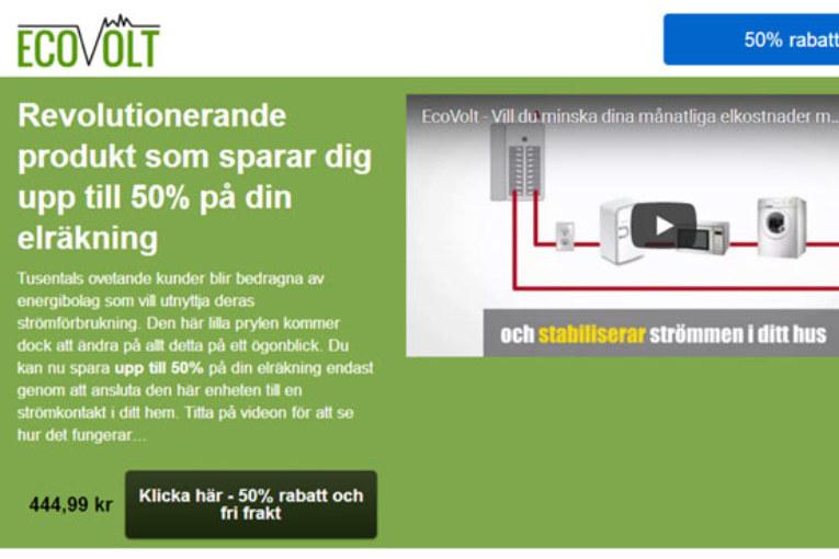 EcoVolt - lurar elkonsumenter att spara ström